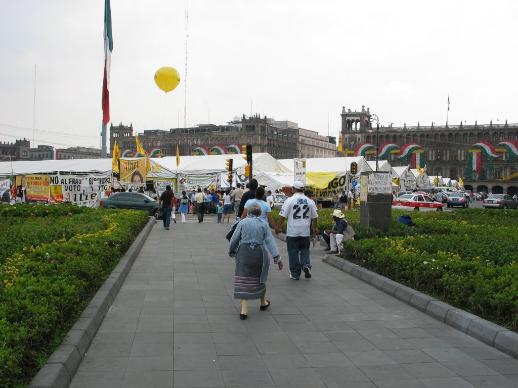 The AMLO camp in central Mexico city