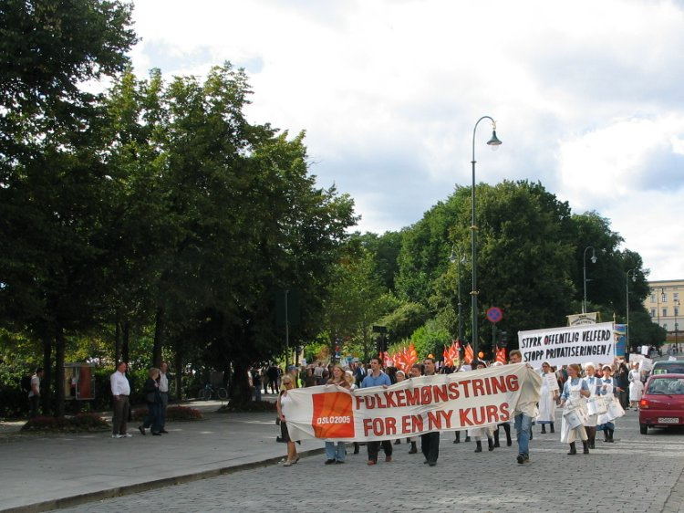 Oslo 2005 demonstration