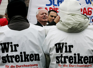 Oskar Lafontaine and Die Linke believe a general strike is the right strategy to translate a left election victory into left wing politics.