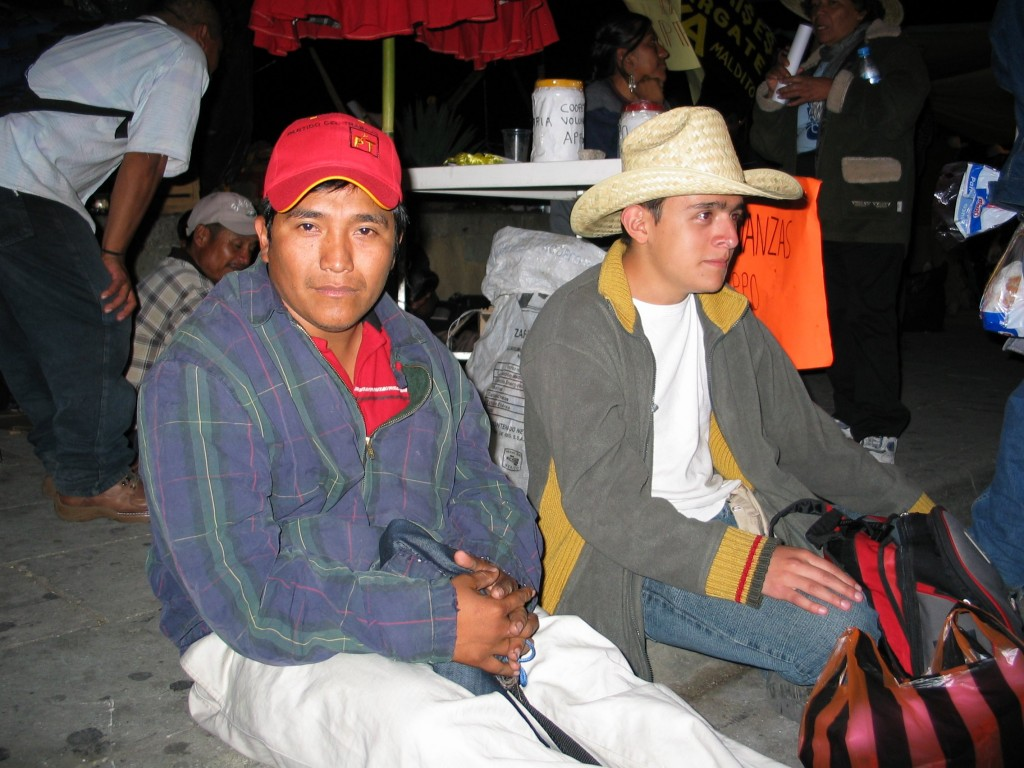 Activists from Mexico city in Oaxaca in solidarity