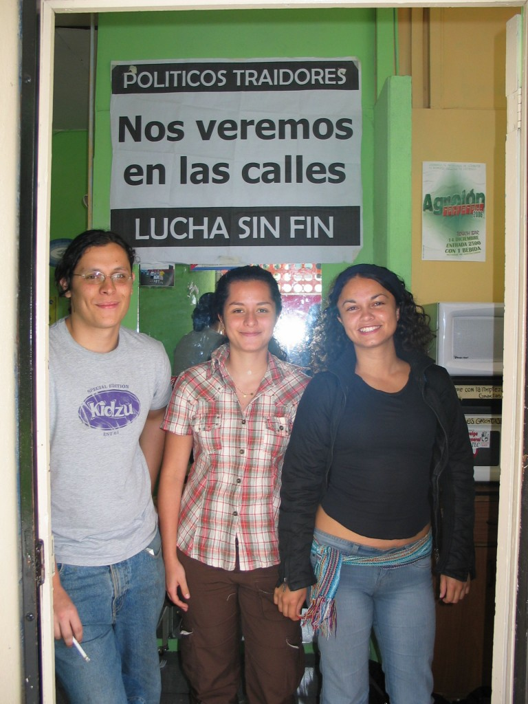 Students Isaac, Sofia and Marcela are working hard against Costa Rican membership in CAFTA.