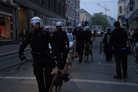 """The groups protesting were only partially those who had been speaking with the minister previously. And none of them participated in the """"illegal protest"""" which ended with the confrontation. (Photo: spisderike.net)"""