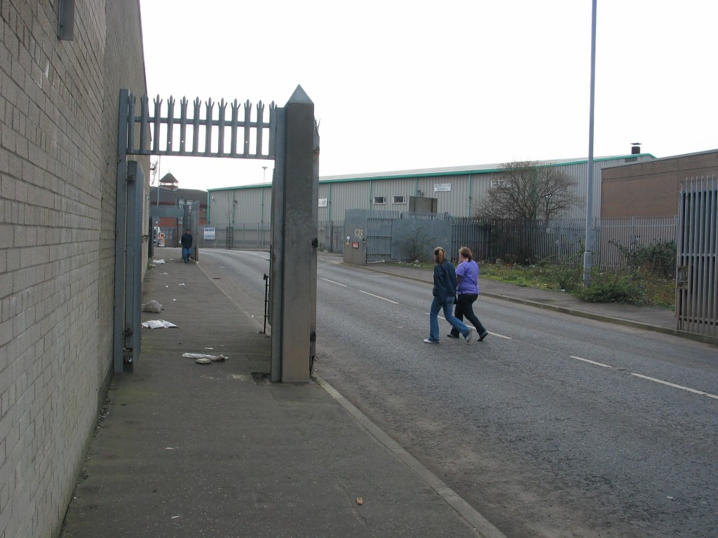 These gates are shut to prevent protestants from the Shankill Road and catholics from The Falls to attack oneanother. What's so progressive about that?