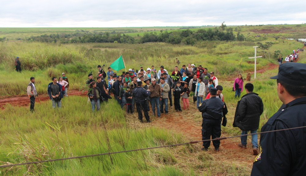 June 15, 2013 in Curuguaty, Paraguay. Campesinos are commemorating the victims of the massacre that happened exactly one year earlier in the same place.